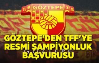 Göztepe'den flaş başvuru