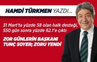 Hamdi Türkmen yazdı: Zor günlerin başkanı Tunç...