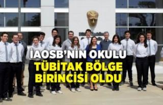 İAOSB'nin okulu TÜBİTAK bölge birincisi oldu
