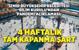 İzmir Büyükşehir Belediyesi Bilim Kurulu'ndan...