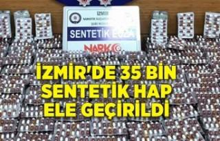 İzmir'de 35 bin sentetik hap ele geçirildi