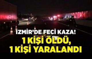 İzmir'de beton bariyere çarpan otomobildeki...