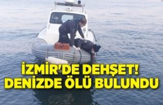 İzmir'de dehşet! Denizde ölü bulundu