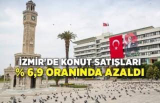 İzmir'de konut satışları % 6,9 oranında...