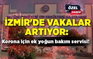 İzmir'de vakalar artıyor: Korona için ek yoğun...