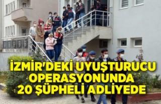 İzmir'deki uyuşturucu operasyonunda 20 şüpheli...