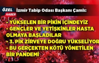 İzmir Tabip Odası Başkanı'ndan dikkat çeken...