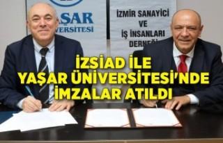 İZSİAD ile Yaşar Üniversitesi'nde imzalar...