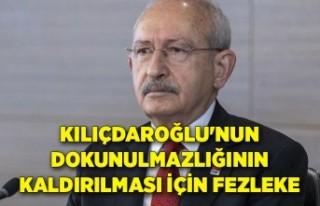 Kılıçdaroğlu'nun dokunulmazlığının kaldırılması...
