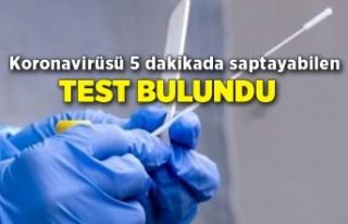 Koronavirüsü 5 dakikada saptayabilen test bulundu