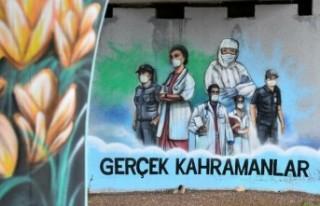 Sağlık çalışanlarına moral grafitileri