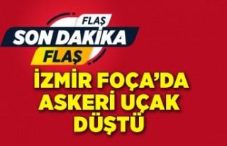 Son dakika: İzmir'de askeri uçak düştü