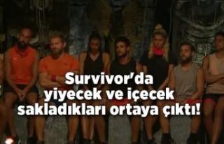 Survivor'da yiyecek ve içecek sakladıkları...
