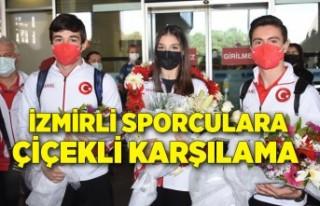 Avrupa ikincisi İzmirli cimnastikçi Sıla Karakuş'a...