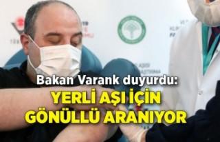 Bakan Varank duyurdu: Yerli aşı için gönüllü...