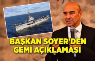 Başkan Soyer Aliağa'da sökülecek dev gemiyle...