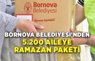 Bornova'da 5.200 aileye Ramazan Paketi