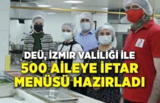 DEÜ, İzmir Valiliği ile 500 aileye iftar menüsü...