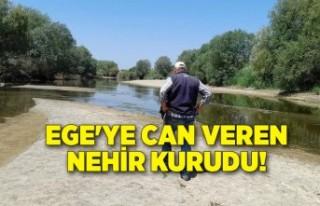 Ege'ye can veren nehir kurudu!