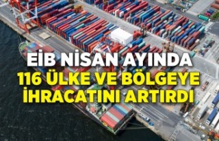 EİB'in Nisan ayı ihracatında yükselen pazar...