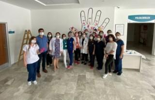 Foça'da sağlıkçılardan dünya hijyen günü...