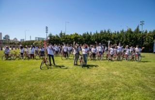 Gönüllü gençlere 102 bisiklet