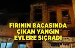 İzmir Konak'ta fırının bacasında çıkan...