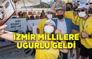İzmir millilere uğurlu geldi