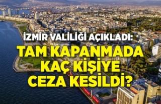 İzmir Valiliği açıkladı: Tam kapanmada kaç kişiye...