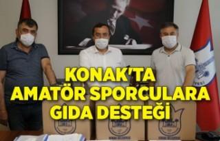 Konak'ta amatör sporculara gıda desteği