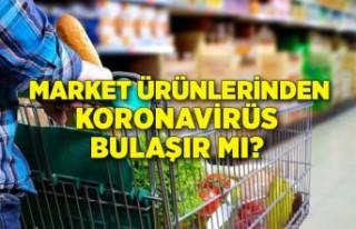 Koronavirüs market ürünlerinden, sebze ve meyvelerden...