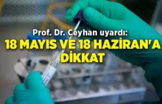 Prof. Dr. Ceyhan: 18 Mayıs ve 18 Haziran'a dikkat