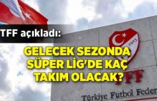 TFF açıkladı: Gelecek sezonda Süper Lig'de...
