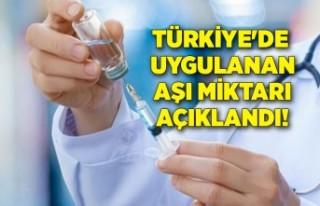 Türkiye'de uygulanan aşı miktarı açıklandı!