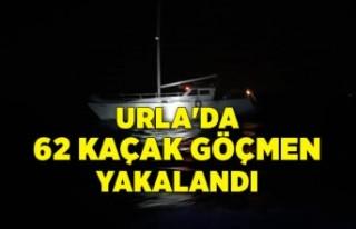 Urla'da 62 kaçak göçmen ve 2 göçmen kaçakçısı...