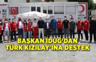 Başkan İduğ'dan Türk Kızılay'ına...
