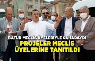 Batur meclis üyeleriyle sahadaydı: Projeler meclis...
