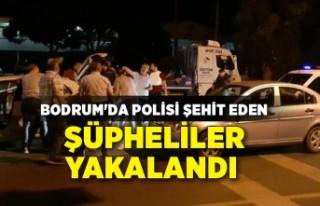 Bodrum'da polisi şehit eden şüpheliler yakalandı