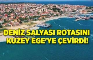 Deniz salyası rotasını Kuzey Ege'ye çevirdi!