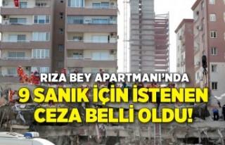 Depremde yıkılan Rıza Bey Apartmanı iddianamesinde...