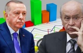 Erdoğan ve Devlet Bahçeli'ye bir anketten daha...