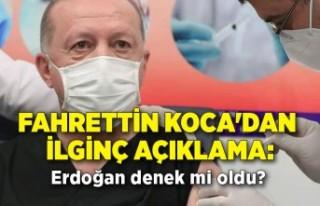 Fahrettin Koca'dan ilginç açıklama: Erdoğan...
