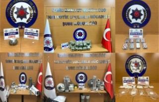 İzmir'de 1 haftadaki uyuşturucu operasyonlarında...