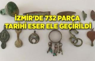 İzmir'de 732 parça tarihi eser ele geçirildi