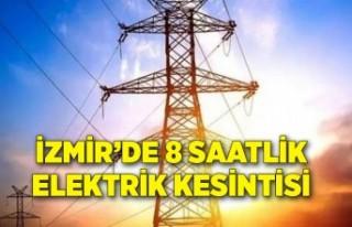 İzmir elektrik kesintisi 14 Haziran Pazartesi