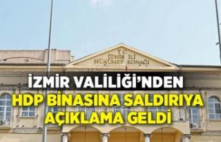 İzmir Valiliği'nden HDP binasına saldırıyla...