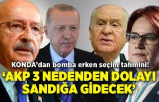 KONDA'dan bomba erken seçim tahmini! 'AKP 3 nedenden...