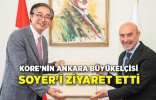 Kore'nin Ankara Büyükelçisi Soyer'i ziyaret...