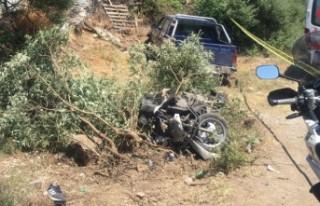 Marmaris'te kamyonetle motosiklet çarpıştı