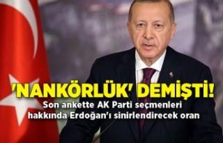 'Nankörlük' demişti! Son ankette AK Parti...